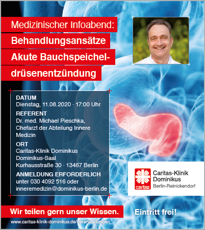 Med. Infoabend: Akute Bauchspeicheldrüsenentzündung